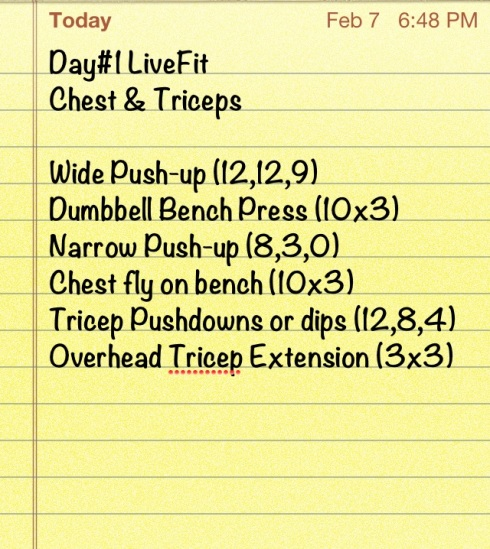 10 lbs. on dumbbell chest exercises: chest fly and bench press