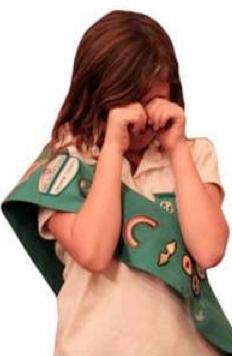 Sad Girl Scout